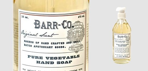 Barr & Co. Pure Vegetable Hand Soap