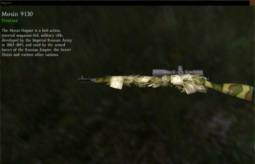 Full camo and grass wrap on Mosin 9130