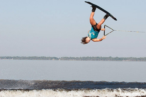 Some Wakeboarders can get really high in the air but the best and the least inexperienced all crash sometimes. Be prepared because it can hurt if you hit wrong or get clipped by the board.