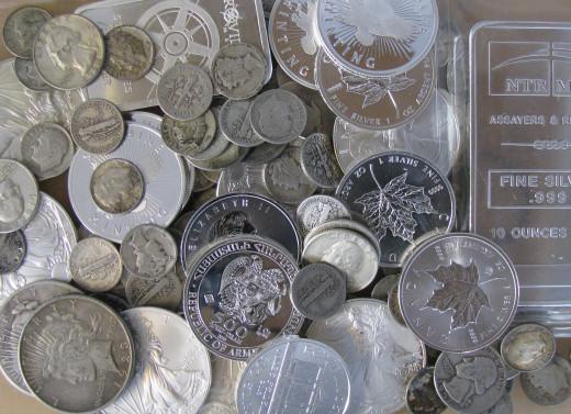 A Pile of Silver Bullion