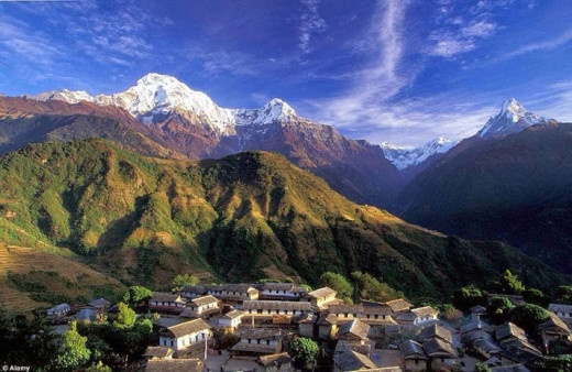 Ghandruk Village in Annapurna Region of Nepal.