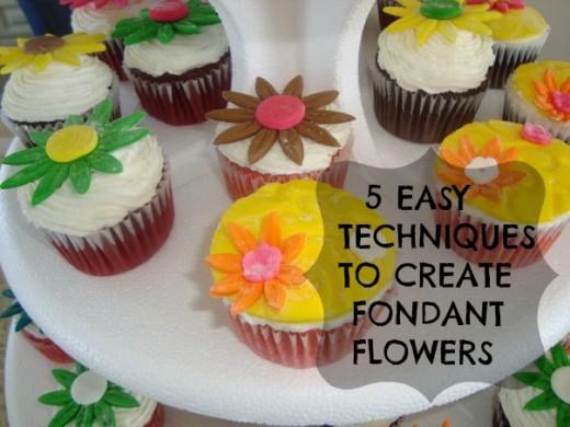 Fondant Daisy cupcakes