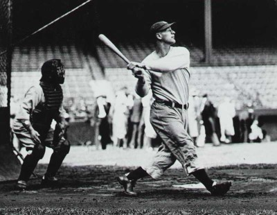 Lou Gehrig hit four home runs in one game.  Elected to the Baseball Hall of Fame in 1939.  Lou played 2,130 consecutive games and won six World Series. He held a number of records including most Grand Slams and was a teammate and friend of Babe Ruth.