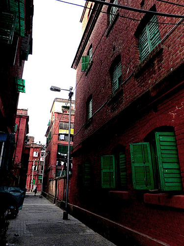 The red brick walls of the Barracks , Bowbazar , Kolkata
