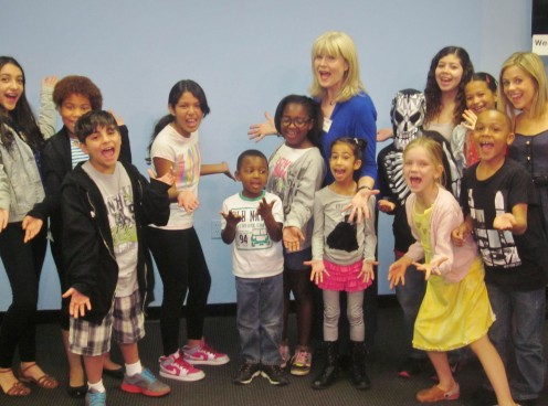 Kids Commercial Acting Class having fun.
