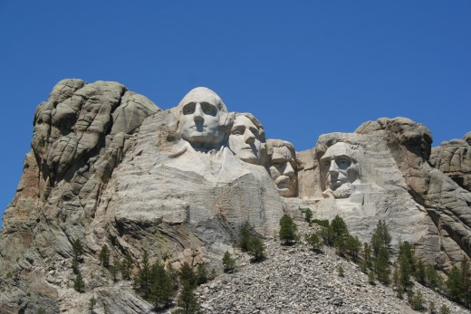 Mount Rushmore Monument, George Washington, Thomas Jefferson, Abraham Lincoln, Theodore Roosevelt