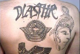 These are tattoos from the Dlasthr Assyrian gang.  All of these have meanings.  They are not just cool art.