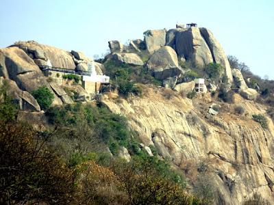 View Of Yoganarasimha Temple In Devarayanadurga