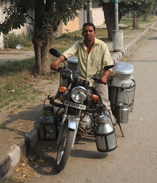 A rural Milkman of India