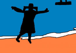 The Flying Nun without surfboard.
