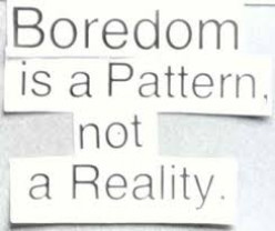 How you can Overcome Boredom