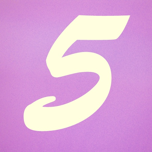 Numerology: Birth Number 5 Why the background of this number is pink?