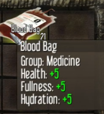 The Blood Bag adds to your health, fullness, and hydration