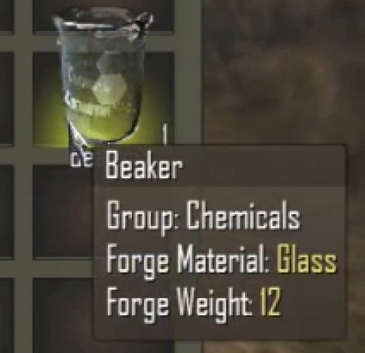 The beaker icon has a yellow background.