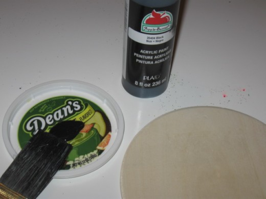 Always save old food containers and lids to use for holding glue, paint and other icky stuff you don't want in the good dishes.