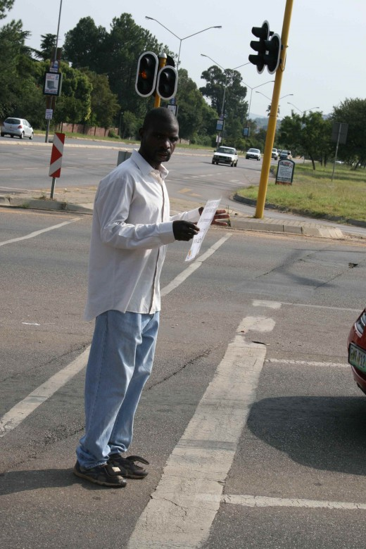 Just another beggar on the street corner? Read on to find out why this man could be a symbol of hope...