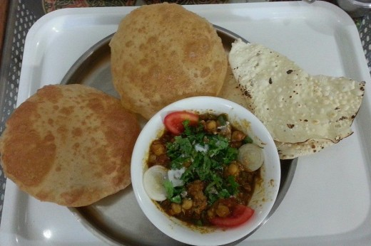 Chole Bhature Indian Snack