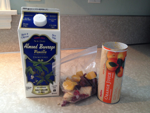 Everything you need for a delicious smoothie