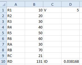 Current ID = V (D1) / RD (B10)