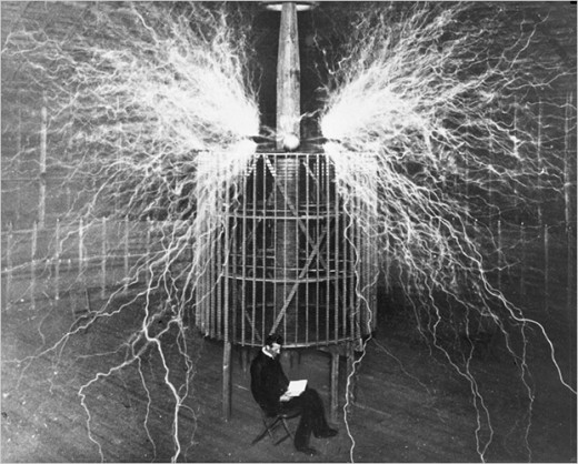 Tesla unaffected by millions of high voltage electricity.