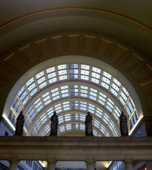 Union Station in Washington, DC. near the main entrance.