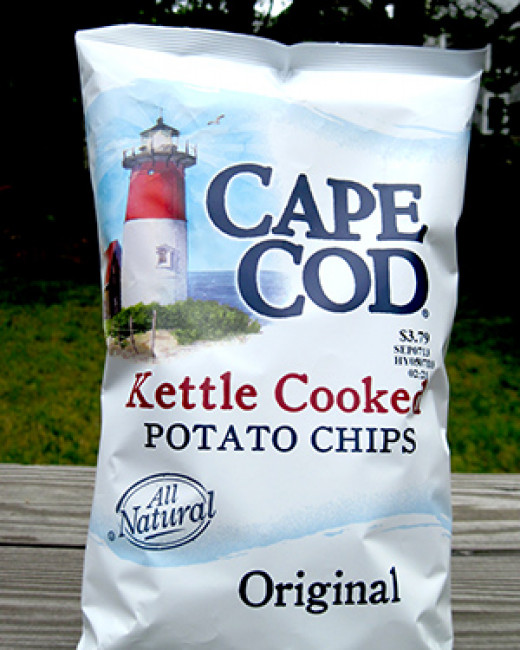 Cape Cod Potato Chip Bag with Their Beautiful Logo