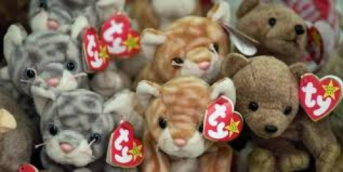 The Beanie Babies craze took over in the mid 90's and people were going wild to get their hands on them.