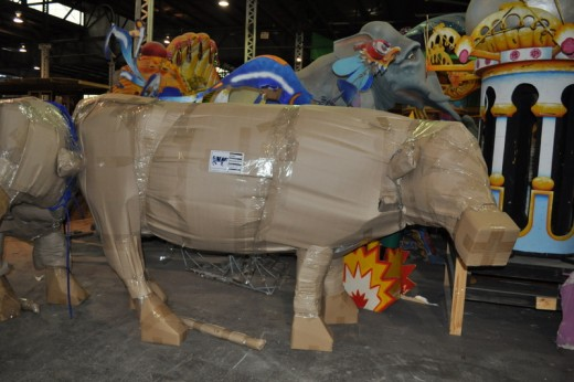 Mardi Gras World makes all of Chick-fil-A's cows, as well as many amusement park and carnival decorations