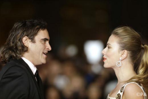 Joaquin Phoenix head to head with Scarlett Johansson.