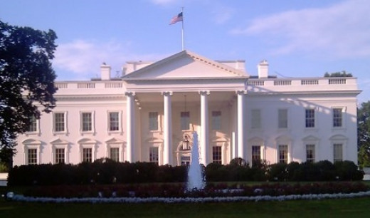 White House from the Pennsylvania Avenue side.
