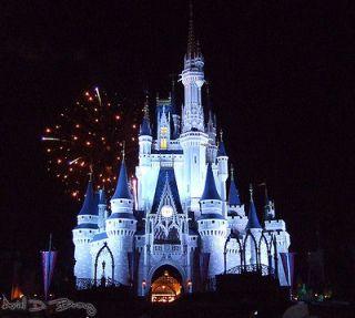 Cinderella's Castle during Nighttime Fireworks, Walt Disney World, Orlando, FL