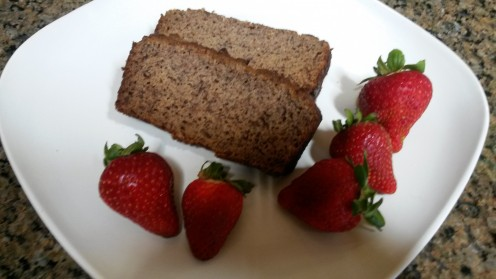 Have some healthy banana bread without the wheat, gluten, lactose, and sugar.
