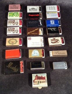 The Joys of Collecting Vintage Match books, and Matchboxes