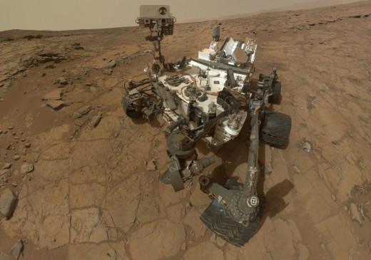 Curiosity on Mars Self-Portrait