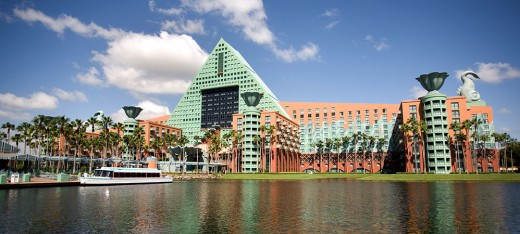 Disney's Swan and Dolphin Resort, located right near the Disney Boardwalk