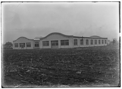 The Wright Company factory in Dayton in 1911.