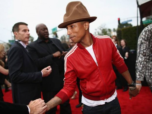 Pharrell Williams Grammy winning producer of 2013 song Happy.