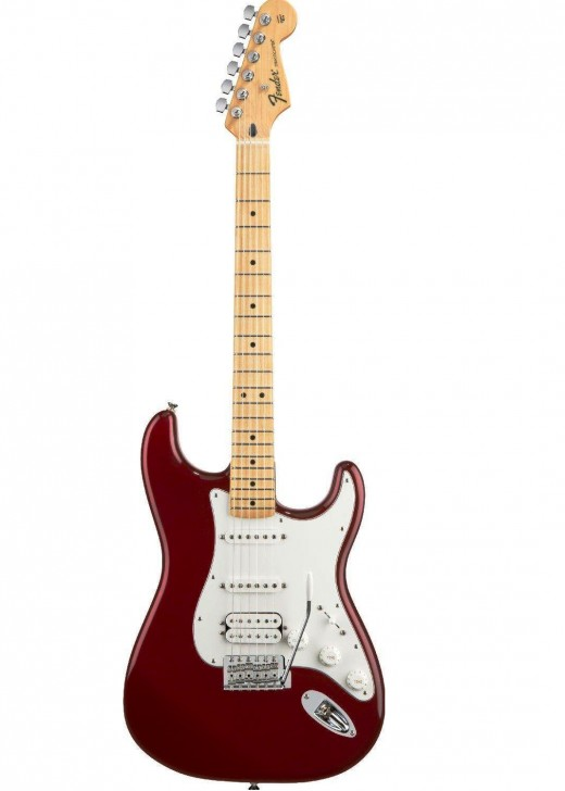 The Fender Standard HSS Stratocaster offers versatility and power in an affordable package.