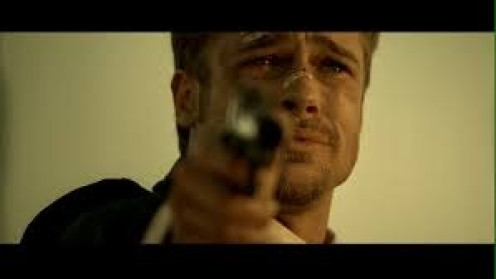 Brad Pitt played alongside Morgan Freeman as detectives in this awesome thriller. The killer (Kevin Spacey) has done the unthinkable to Detective Mills (Brad Pitt).