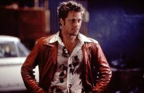 Brad Pitt fights in illegal underground fights in the film Fight Club which is rated R for extreme violence and language.