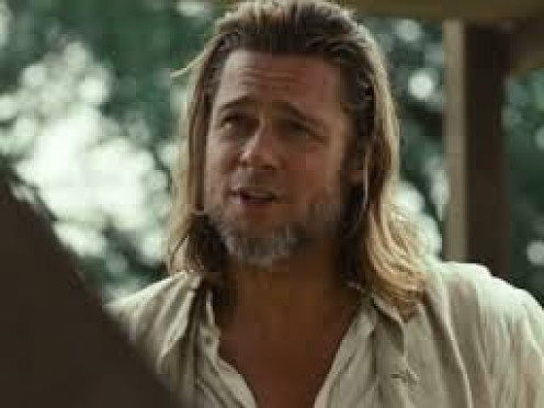 "Brad Pitt plays in the emotional drama move called ""12 Years a Slave"". He is a Canadian named Bass in this historical movie."