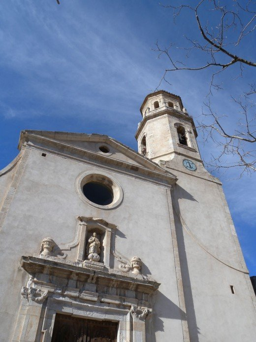 This church was on the tallest peak in the mountains of Northern Spain.  It is Mont-Ral.