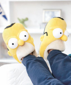 Homer Simpson Plush Slippers