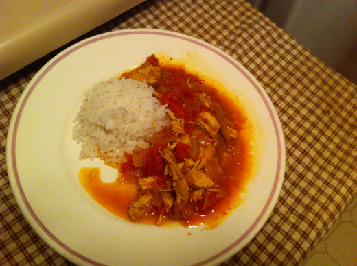 Mumbai Indian Chicken with Rice