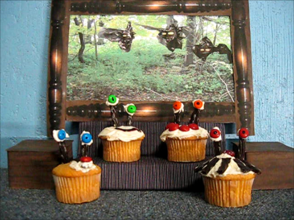One Witch and Four Cupcakes