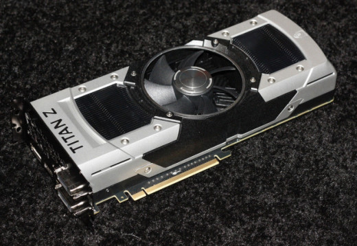 The GeForce GTX TITAN Z itself.