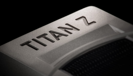 The TITAN Z logo on GeForce GTX TITAN Z
