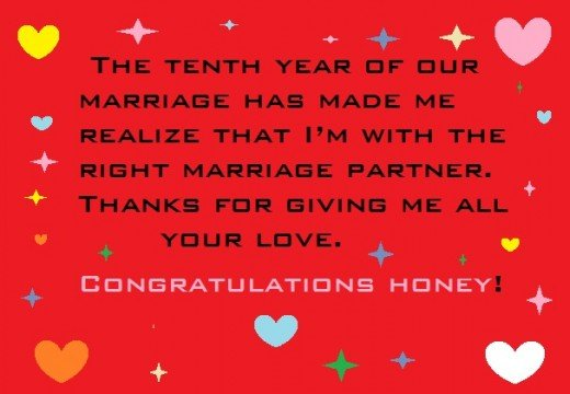 Happy 10th Year Wedding Anniversary Wishes And Sayings What To Write In A Greeting Card