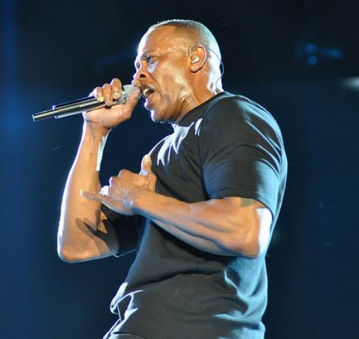 Dr. Dre performing at Coachella in 2012
