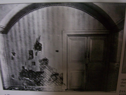 The room in the town of Ekaterinburg, Siberia, where the Russian royal family was murdered by the Bolsheviks.
